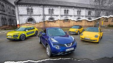 Charakter-Autos, Gruppenbild