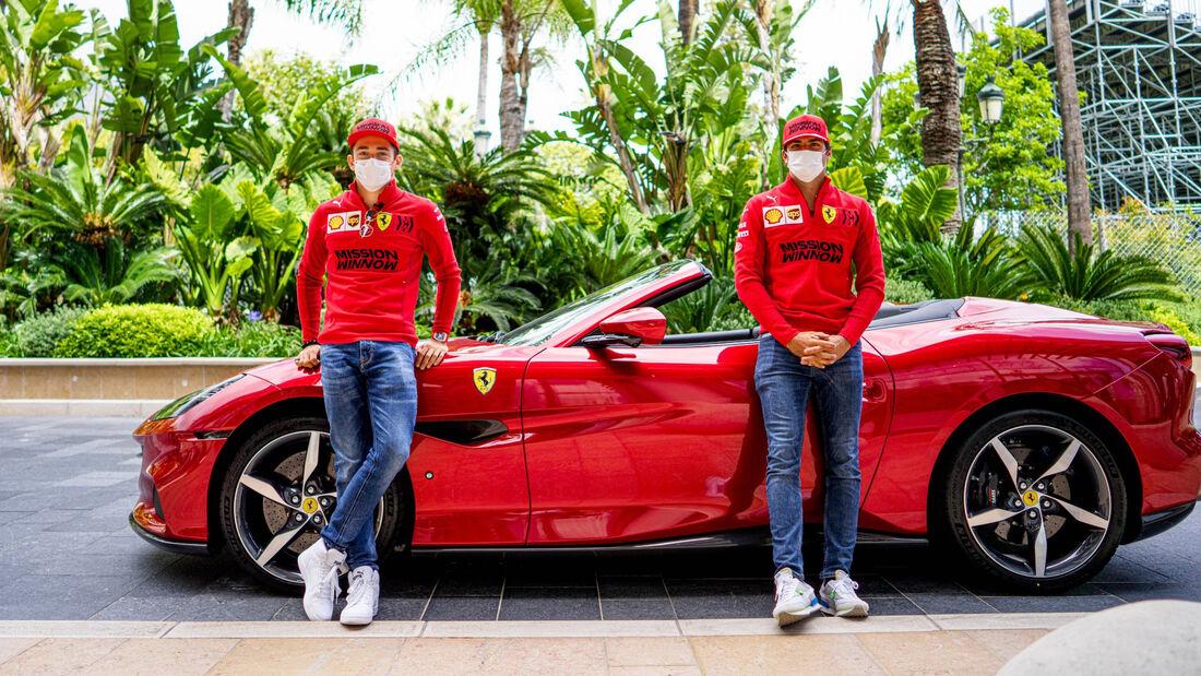 Charles Leclerc - Carlos Sainz - Ferrari - Formel 1 - GP Monaco - 19. Mai 2021