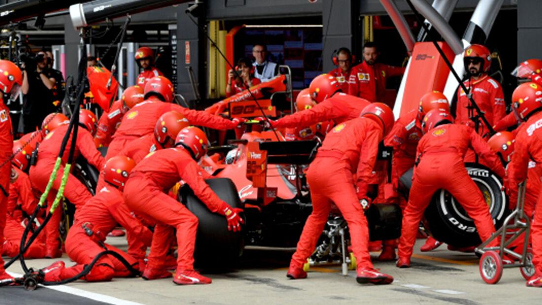 Charles Leclerc - Ferrari - Boxenstopp