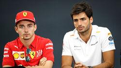 Charles Leclerc - Ferrari - Carlos Sainz - McLaren