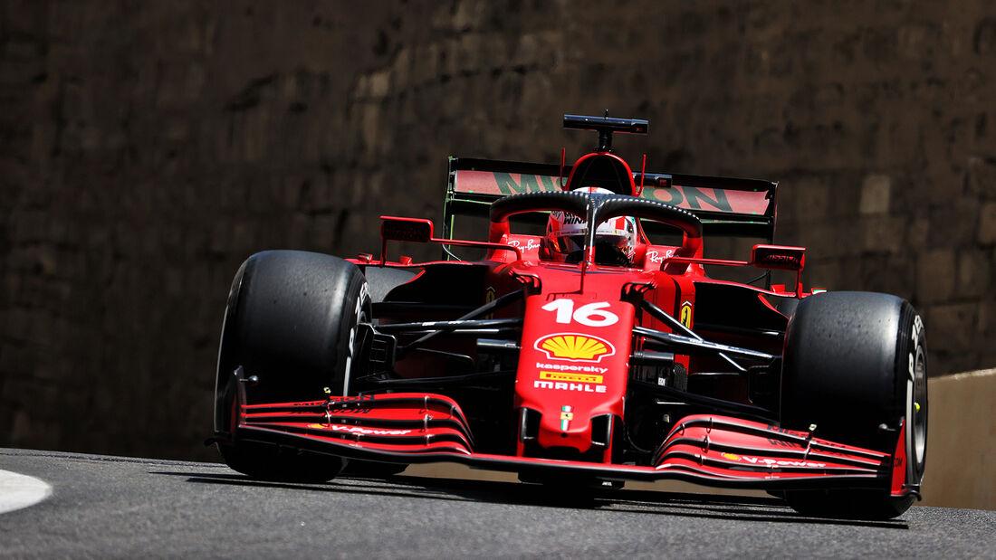 Charles Leclerc - Ferrari - Formel 1 - GP Aserbaidschan - Baku - Freitag - 4.6.2021