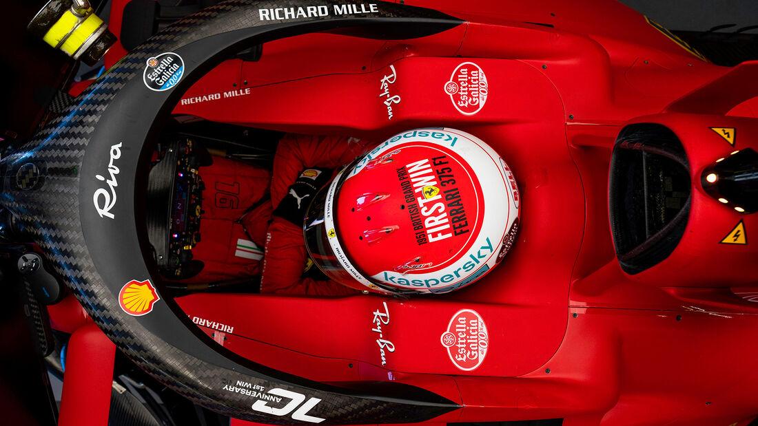 Charles Leclerc - Ferrari - Formel 1 - GP England - Silverstone - 17. Juli 2021