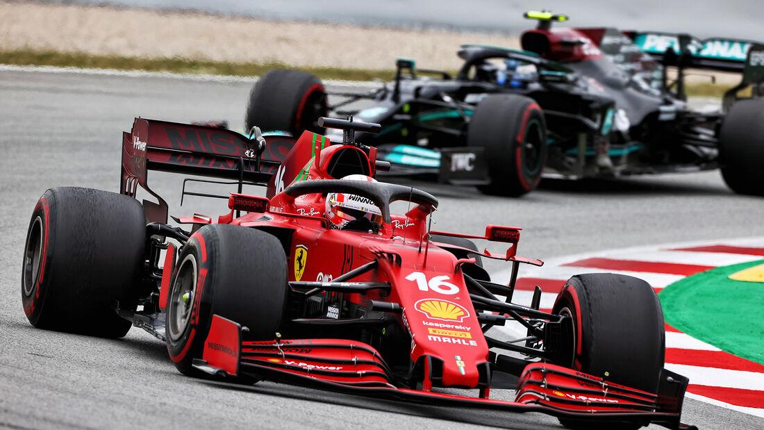 Charles Leclerc - Ferrari - Formel 1 - GP Spanien 2021 - Barcelona - Rennen