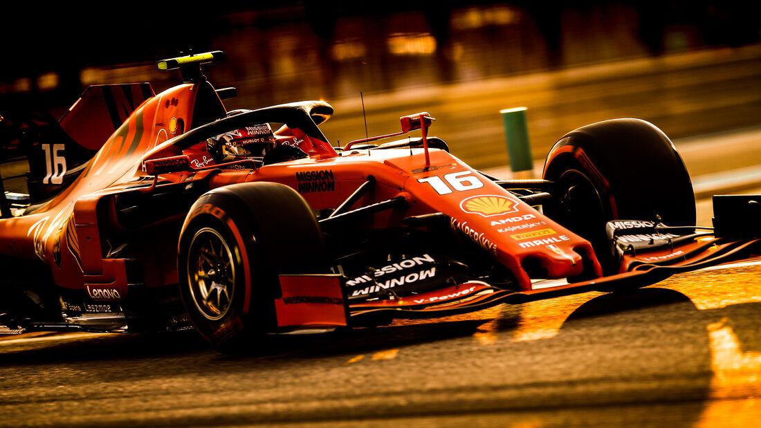 Charles Leclerc - Ferrari - GP Abu Dhabi - Formel 1 - Samtag - 30.11.2019