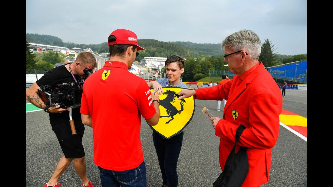 Charles Leclerc - Ferrari - GP Belgien - Spa-Francorchamps - Formel 1 - Donnerstag - 29.8.2019