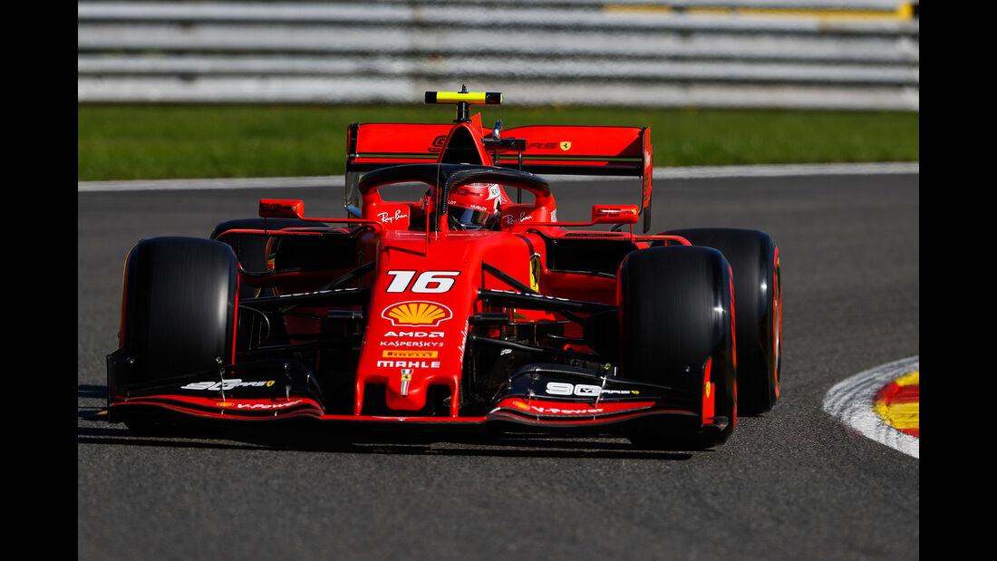 Charles Leclerc - Ferrari - GP Belgien - Spa-Francorchamps - Formel 1 - Freitag - 30.08.2019