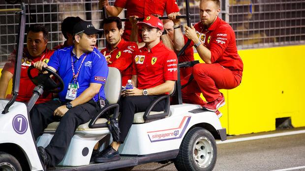 Charles Leclerc - Ferrari - GP Singapur - Formel 1 - Donnerstag - 19.9.2019