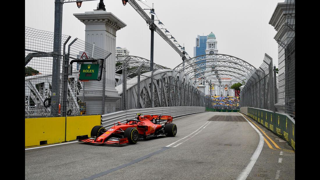 Charles Leclerc - Ferrari - GP Singapur - Formel 1 - Freitag - 20.9.2019