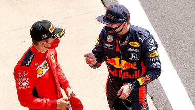 Charles Leclerc - Ferrari - Max Verstappen - Red Bull - GP England 2020 - Silverstone