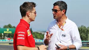 Charles Leclerc - Ferrari - Michael Masi - FIA - GP Ungarn - Budapest - Formel 1 - Donnerstag - 1.08.2019