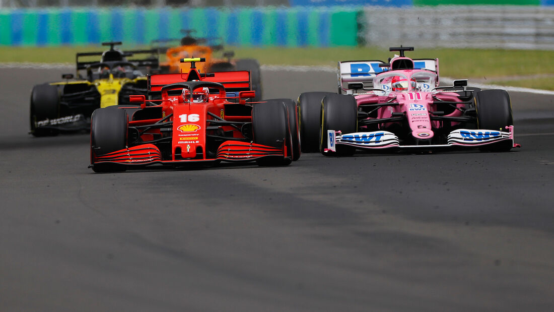 Charles Leclerc - Ferrari - Sergio Perez - Racing Point - GP Ungarn 2020