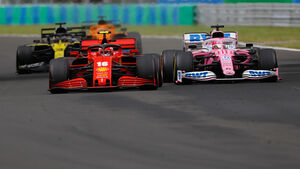 Charles Leclerc - Ferrari - Sergio Perez - Racing Point - GP Ungarn 2020