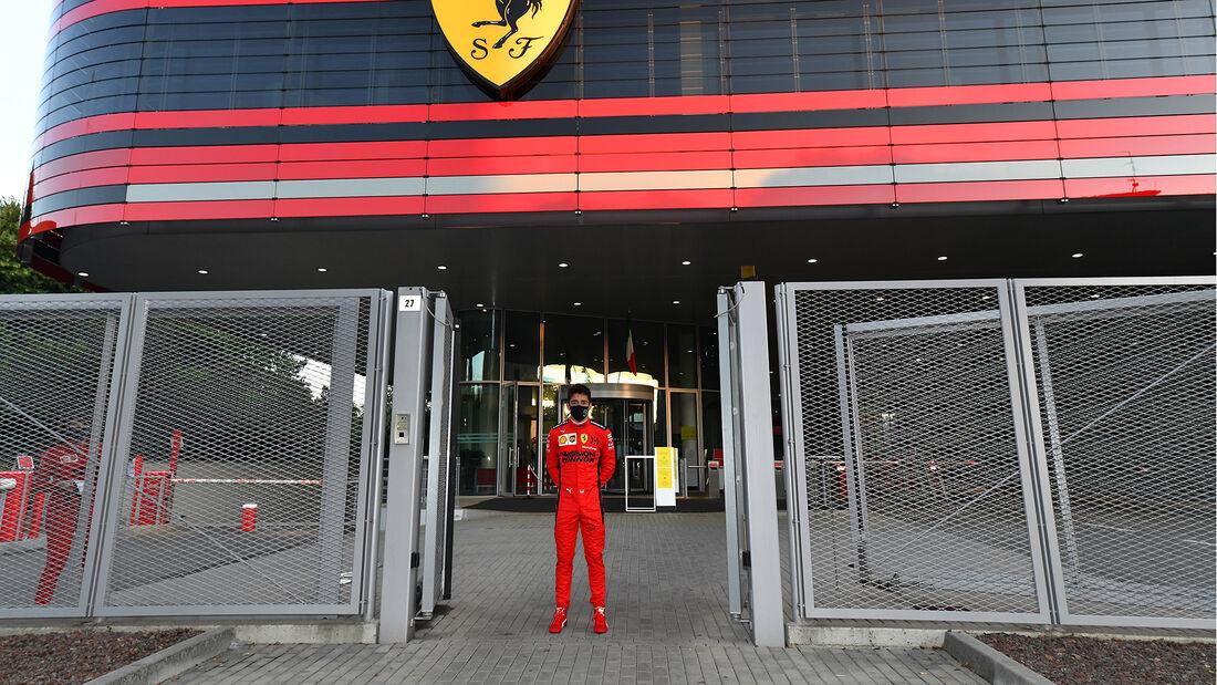 Charles Leclerc - Ferrari-Showrun - Maranello - 2020