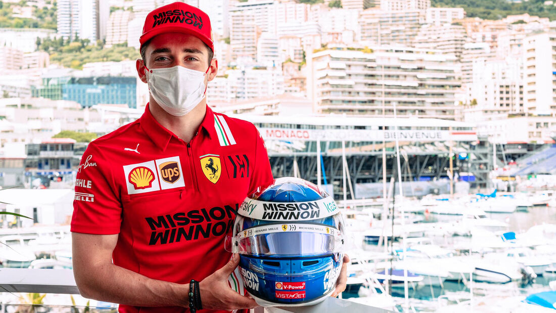 Charles Leclerc - Helm-Design - GP Monaco 2021