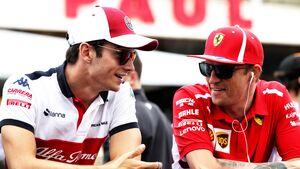 Charles Leclerc - Kimi Räikkönen - Ferrari - Formel 1