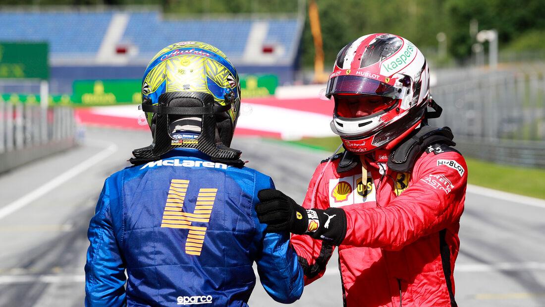 Charles Leclerc & Lando Norris - Formel 1 - GP Österreich - Spielberg - 5. Juli 2020