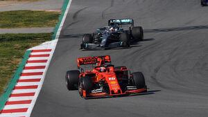 Charles Leclerc & Lewis Hamilton - Barcelona-Test 2019