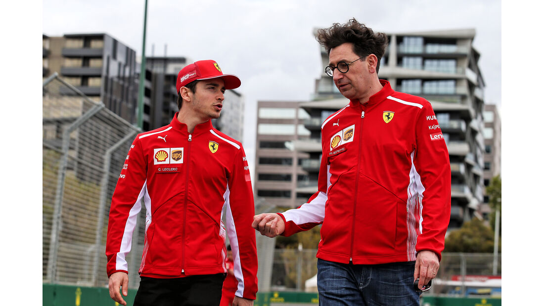 Charles Leclerc & Mattia Binotto - Ferrari - Formel 1 - GP Australien - Melbourne - 13. März 2019