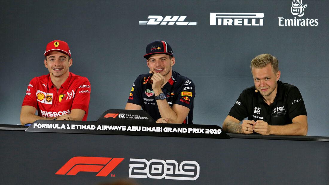 Charles Leclerc - Max Verstappen - Kevin Magnussen - GP Abu Dhabi - Formel 1 - Donnerstag - 28.11.2019
