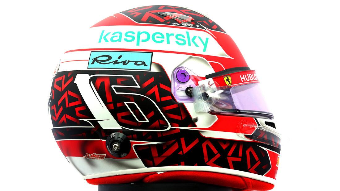 Charles Leclerc - Porträt & Helm - Formel 1 - 2020