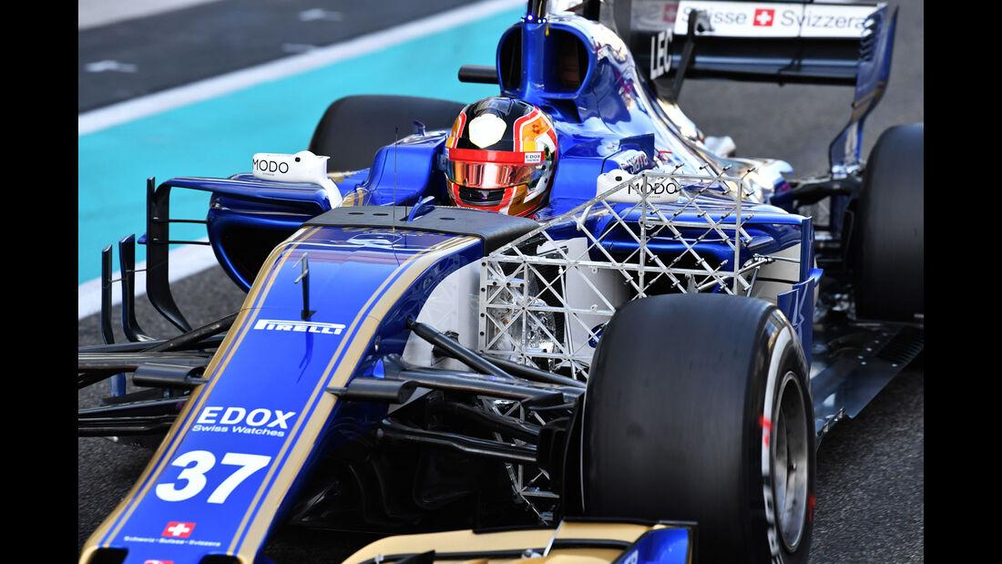 Charles Leclerc - Sauber - Abu Dhabi 2017