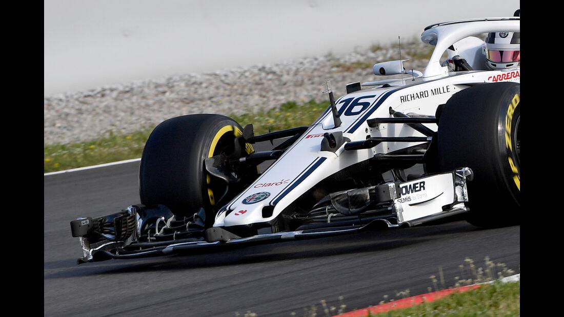 Charles Leclerc - Sauber - F1-Test - GP Spanien - Barcelona - Tag 2 - 16. Mai 2018
