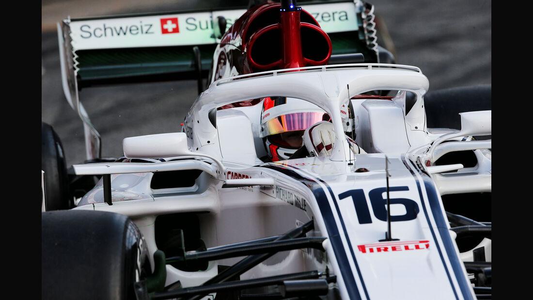 Charles Leclerc - Sauber - Ferrari - F1-Test - Barcelona - Tag 2 - 27. Februar 2018