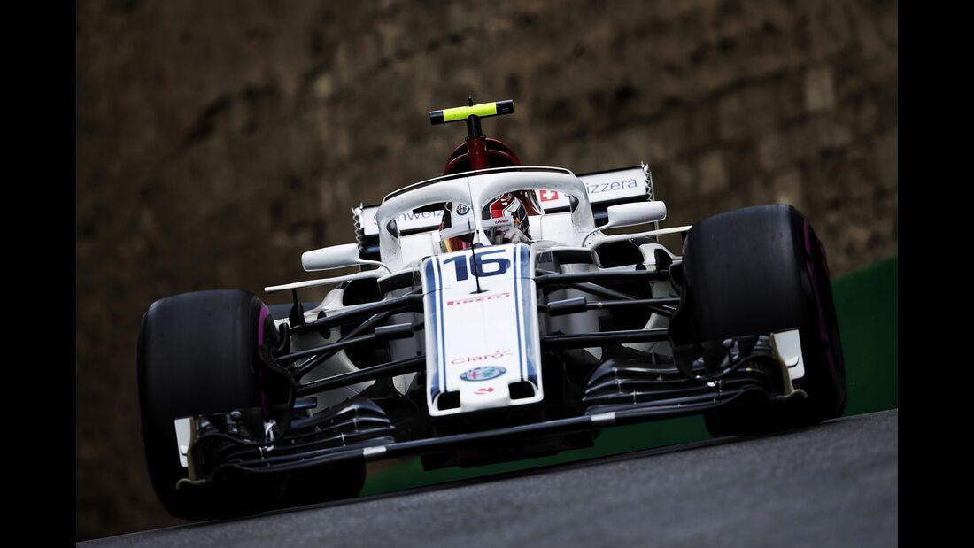 Charles Leclerc - Sauber - Formel 1 - GP Aserbaidschan - 28. April 2018