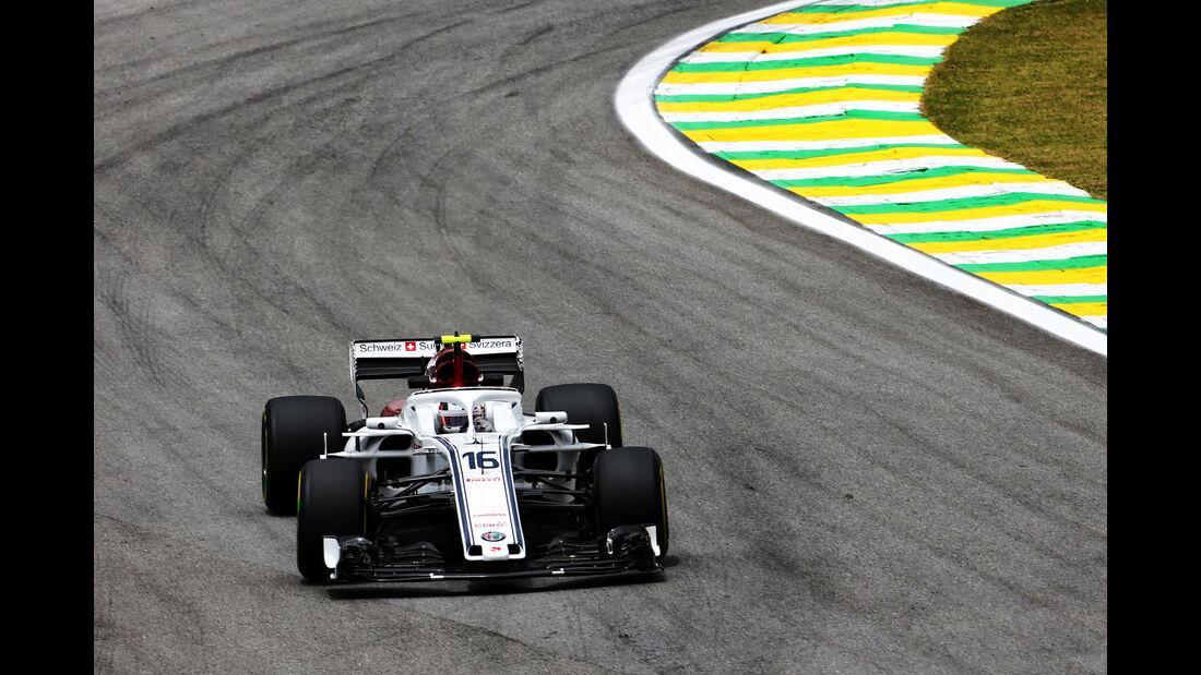 Charles Leclerc - Sauber - GP Brasilien - Interlagos - Formel 1 - Freitag - 9.11.2018