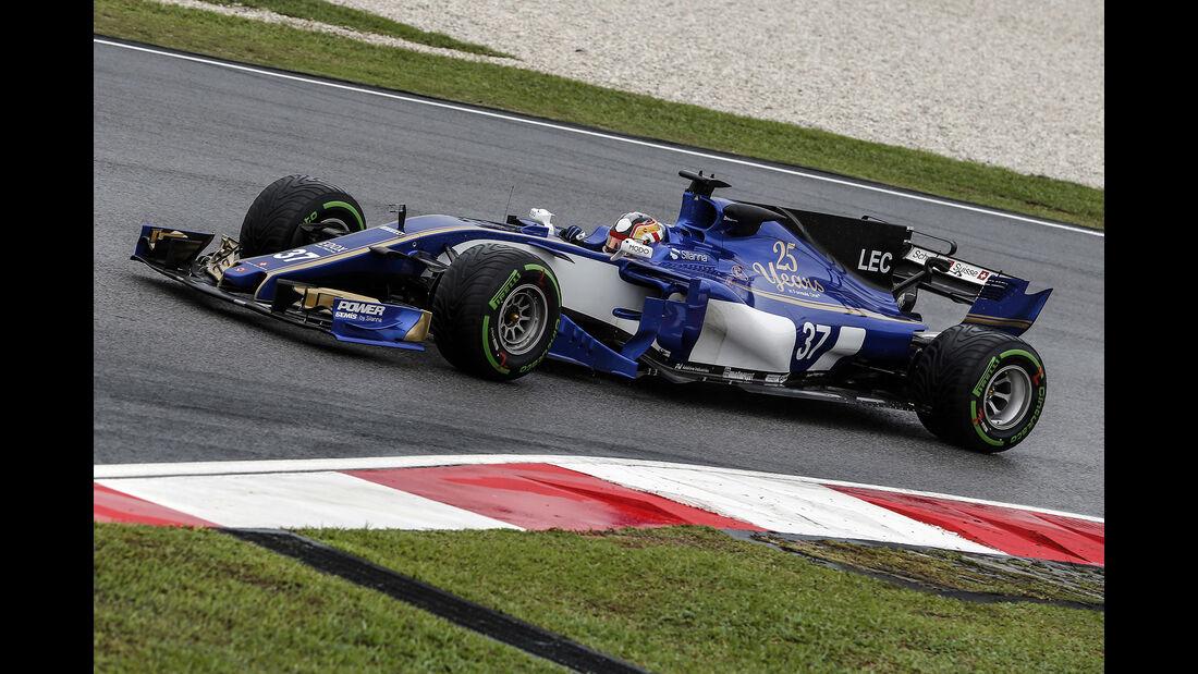 Charles Leclerc - Sauber - GP Malaysia - Sepang - 29. Oktober 2017