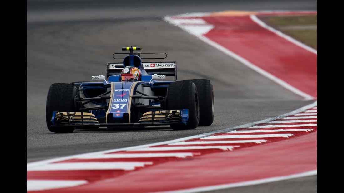 Charles Leclerc - Sauber - GP USA - Austin - Formel 1 - Freitag - 20.10.2017