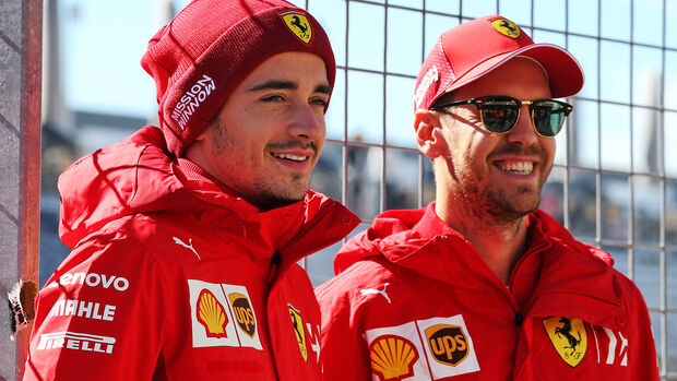 Charles Leclerc & Sebastian Vettel - Ferrari - Formel 1 - GP USA - Austin - 31. Oktober 2019