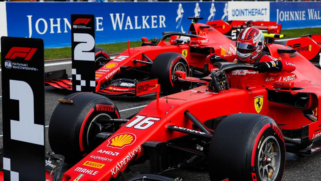 Charles Leclerc - Sebastian Vettel - Ferrari - GP Belgien 2019 - Spa-Francorchamps - Qualifying