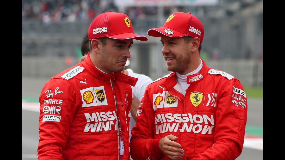 Charles Leclerc & Sebastian Vettel - GP Mexiko 2019