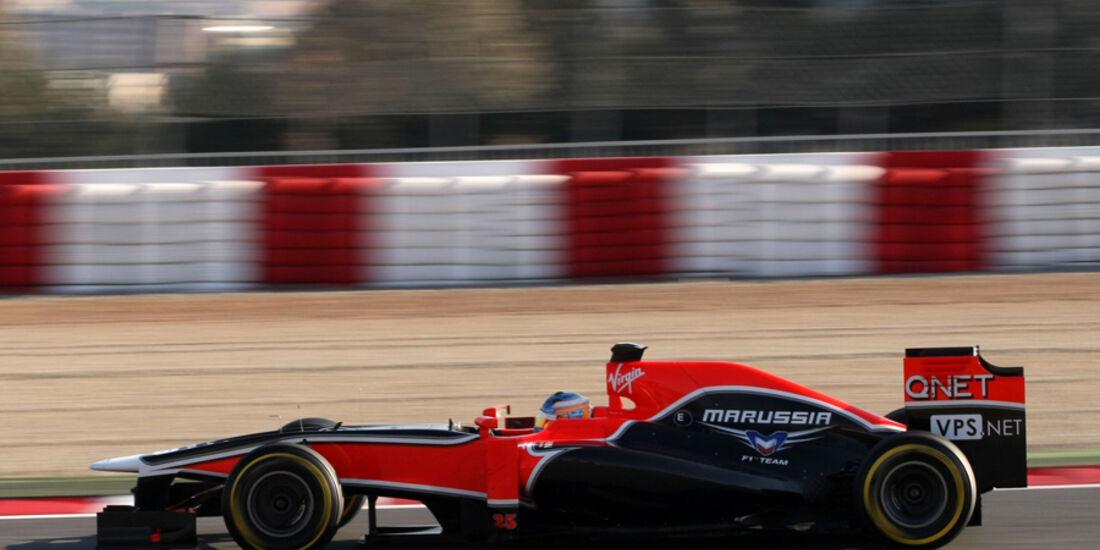 Charles Pic Barcelona F1-Test 2012