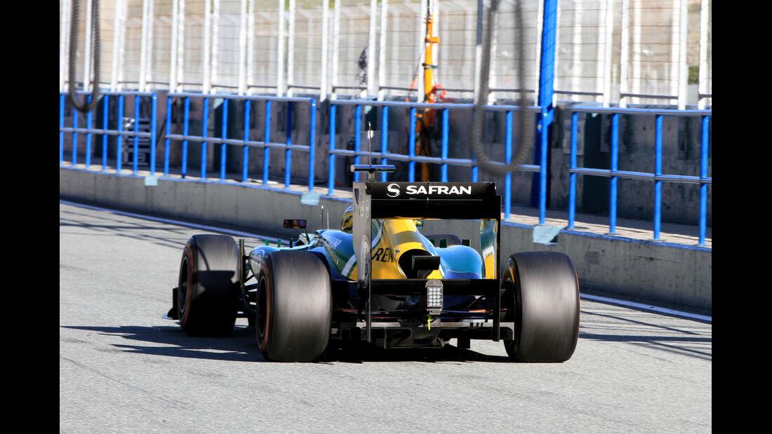 Charles Pic, Caterham, Formel 1-Test, Jerez, 7.2.2013