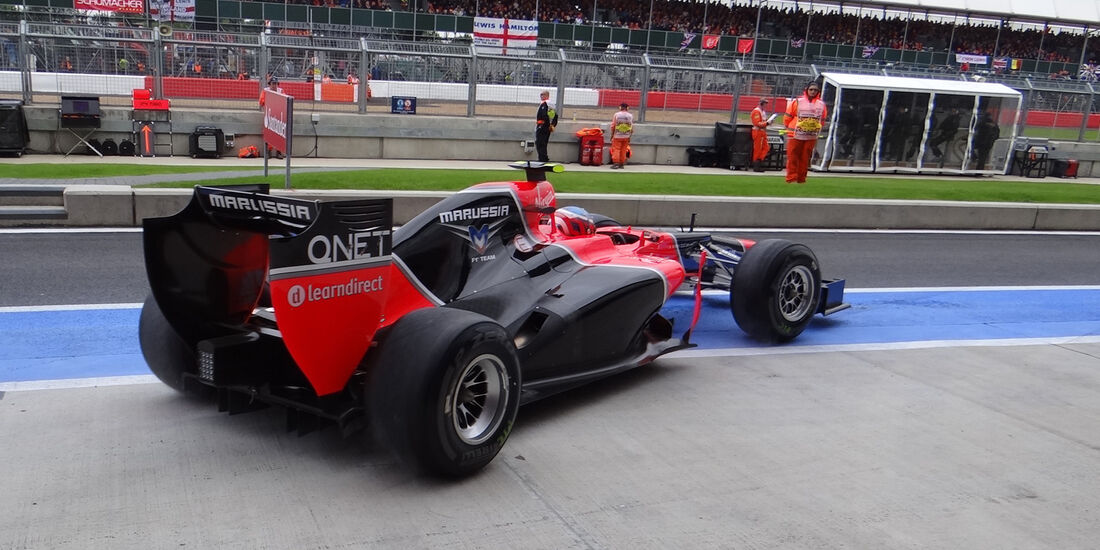 Charles Pic Marussia GP England 2012