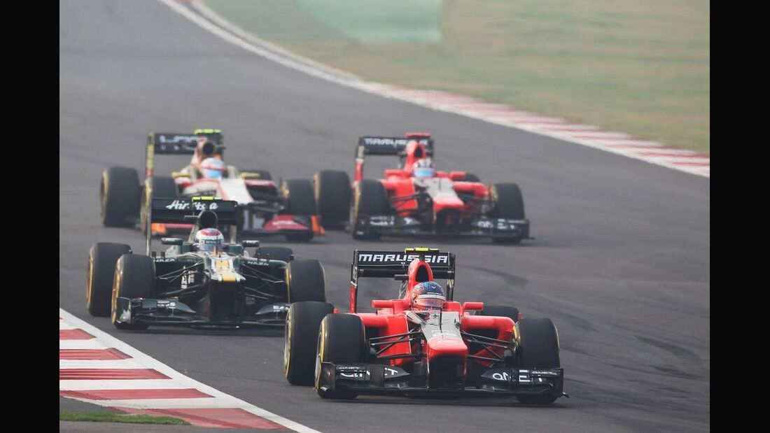 Charles Pic - Timo Glock - Formel 1 - GP Indien - 28. Oktober 2012