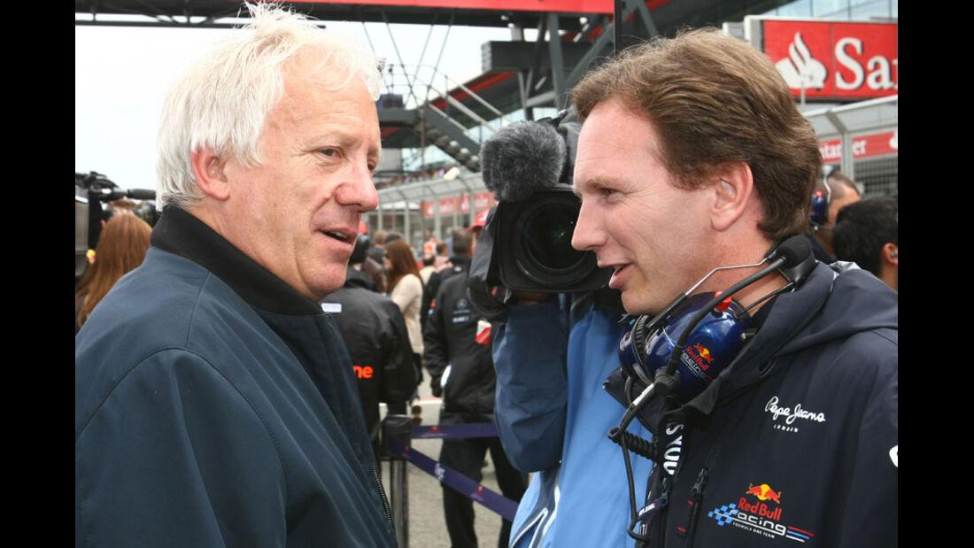 Charlie Whiting Christian Horner GP England 2011 Rennen
