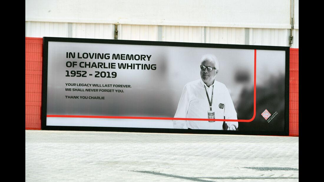 Charlie Whiting - F1-Test - Bahrain - 2. April 2019