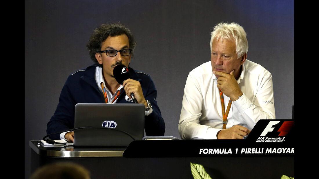 Charlie Whiting & Laurent Meckies - Pressekonferenz Halo - GP Ungarn 2017