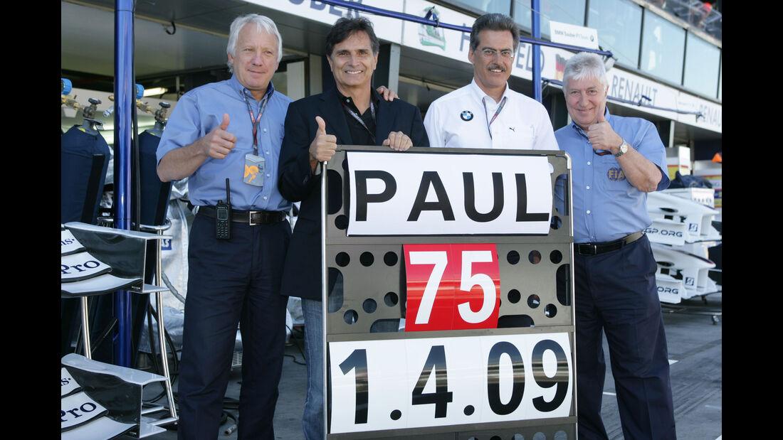 Charlie Whiting - Nelson Piquet - Mario Theissen - Herbie Blash - Formel 1