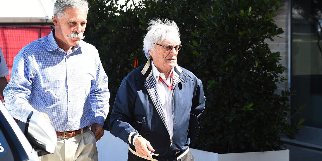 Chase Carey - Bernie Ecclestone - F1 - GP USA 2016