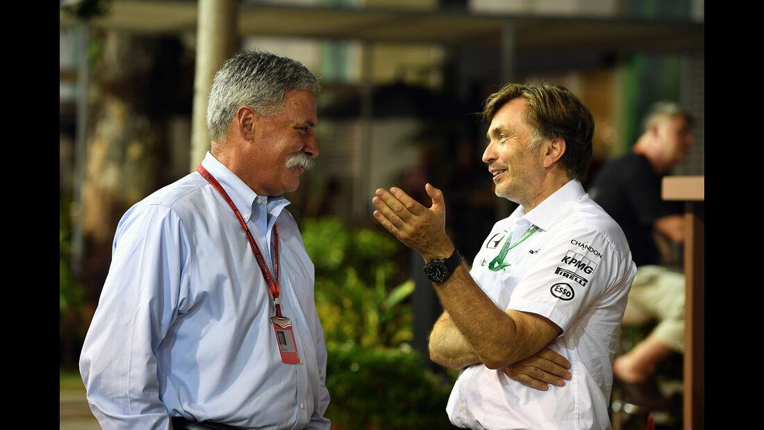 Chase Carey & Jost Capito - Formel 1 - GP Singapur - 17. September 2016