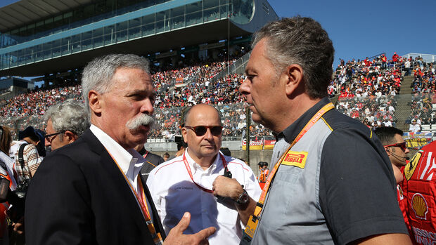 Chase Carey - Liberty Media - Mario Isola - Pirelli - Formel 1