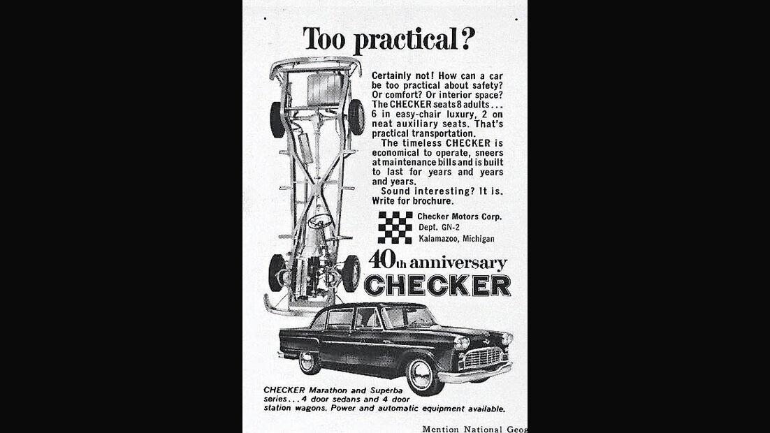 Checker Cab A11, Werbeplakat