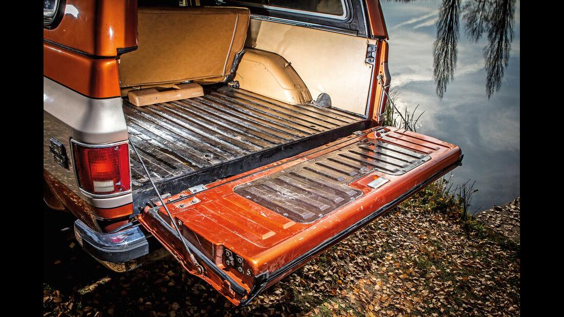 Chevrolet Blazer K-5, Kofferraum, Heckklappe