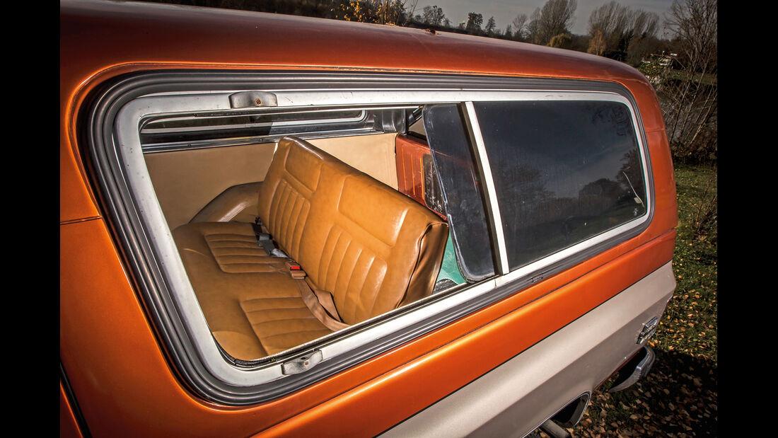 Chevrolet Blazer K-5, Rückbank