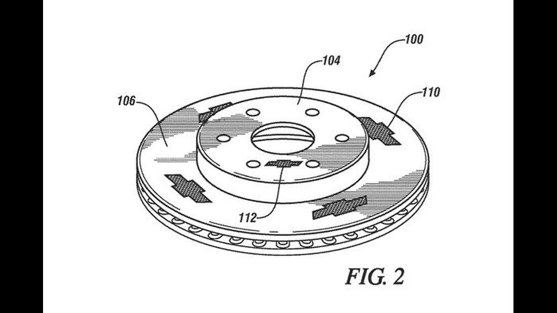Chevrolet Bremsen-Patentzeichnung