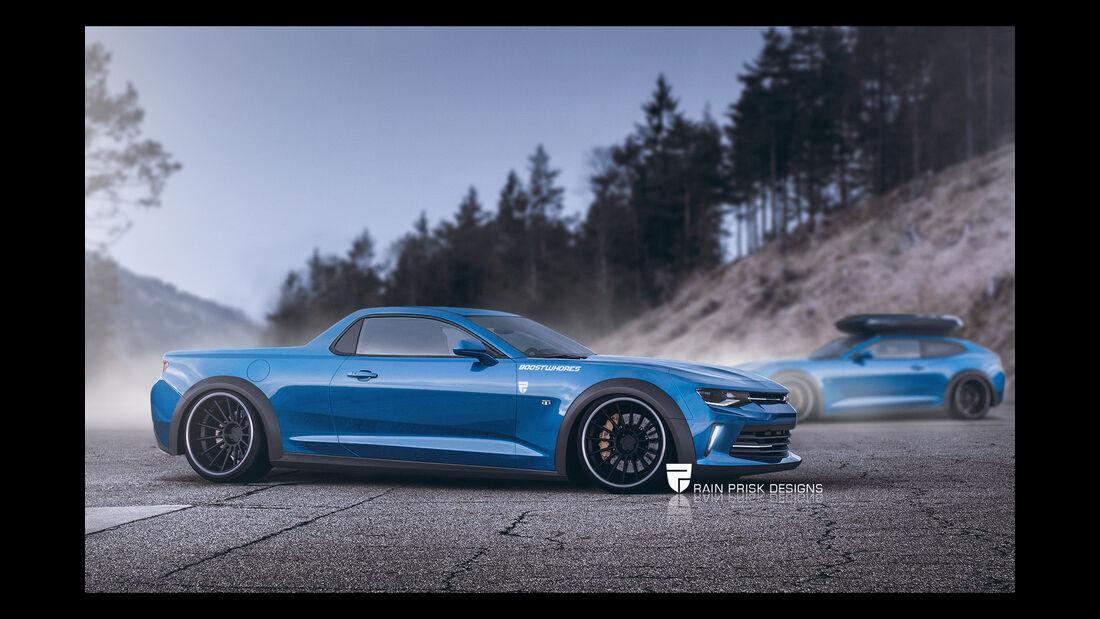 """Chevrolet Camaro """"El Camino"""" - Photoshop - Rain Prisk 2015"""